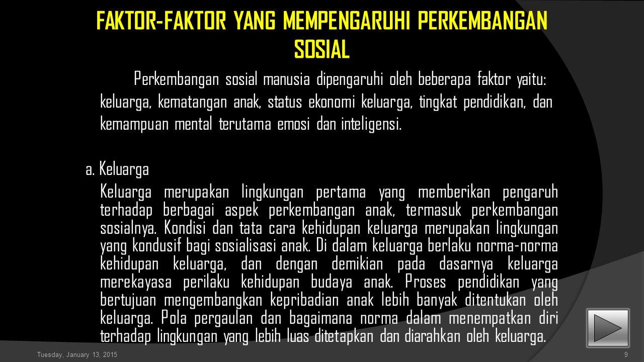 FAKTOR-FAKTOR YANG MEMPENGARUHI PERKEMBANGAN SOSIAL