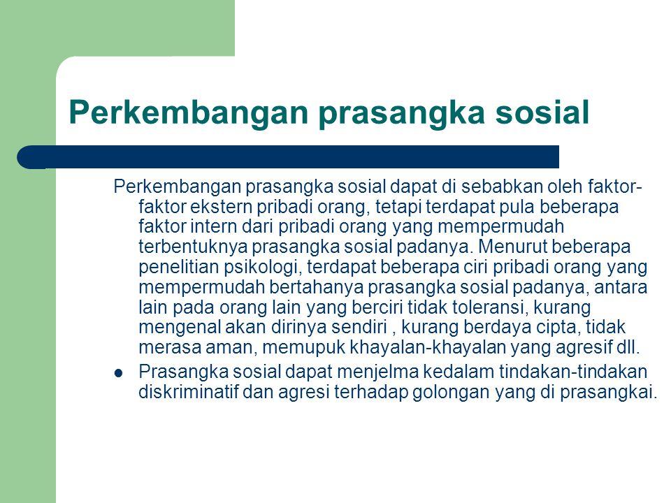 Perkembangan prasangka sosial
