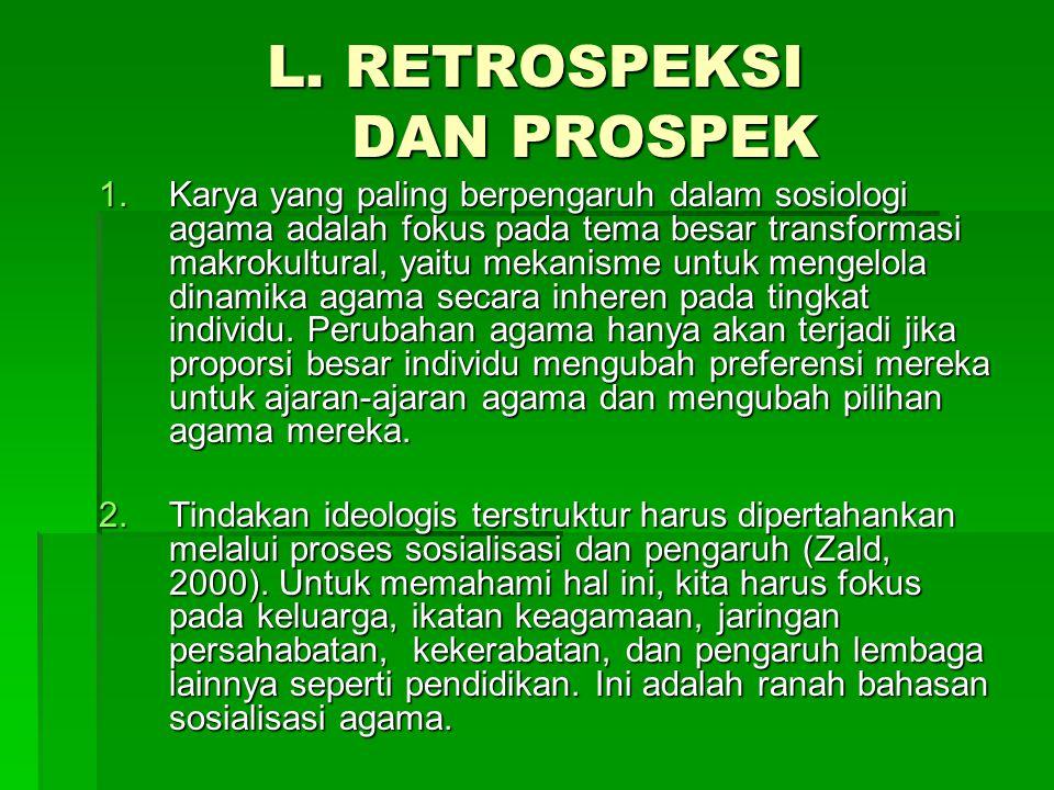 L. RETROSPEKSI DAN PROSPEK