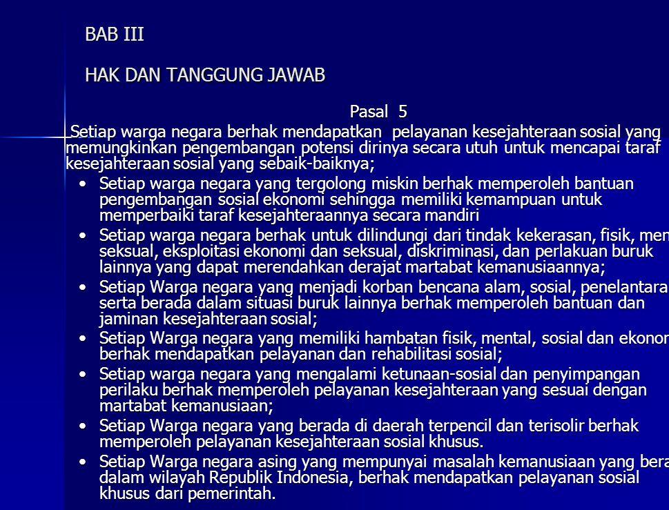 BAB III HAK DAN TANGGUNG JAWAB