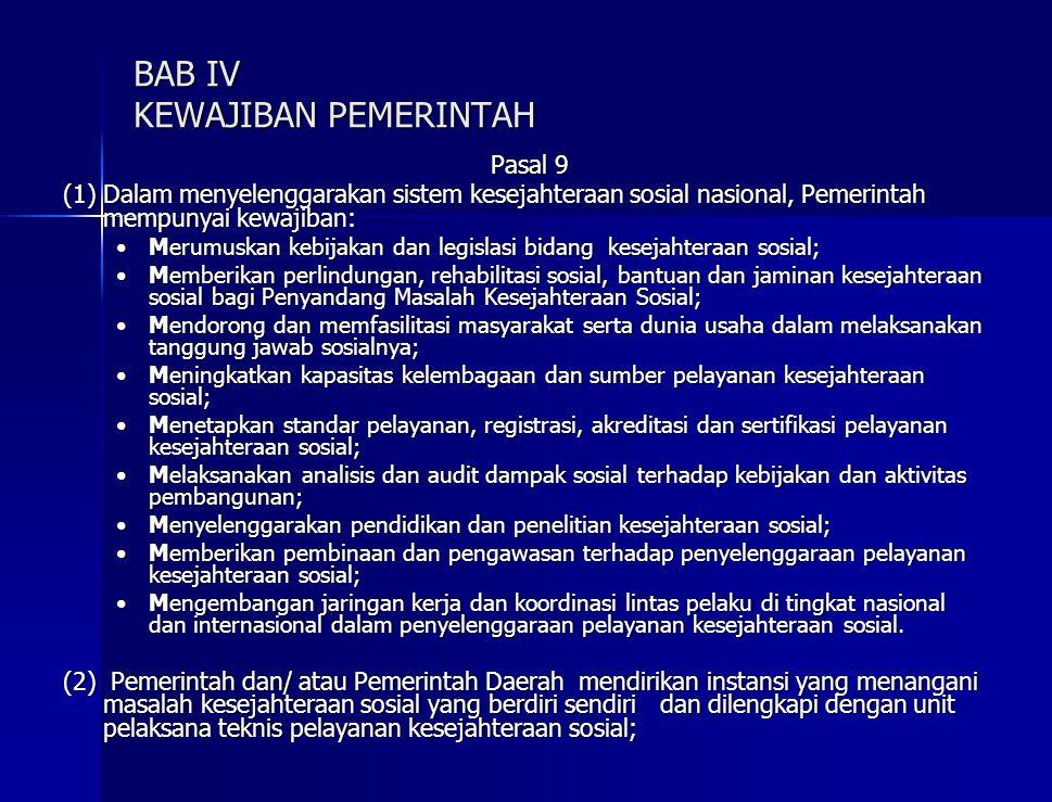 BAB IV KEWAJIBAN PEMERINTAH