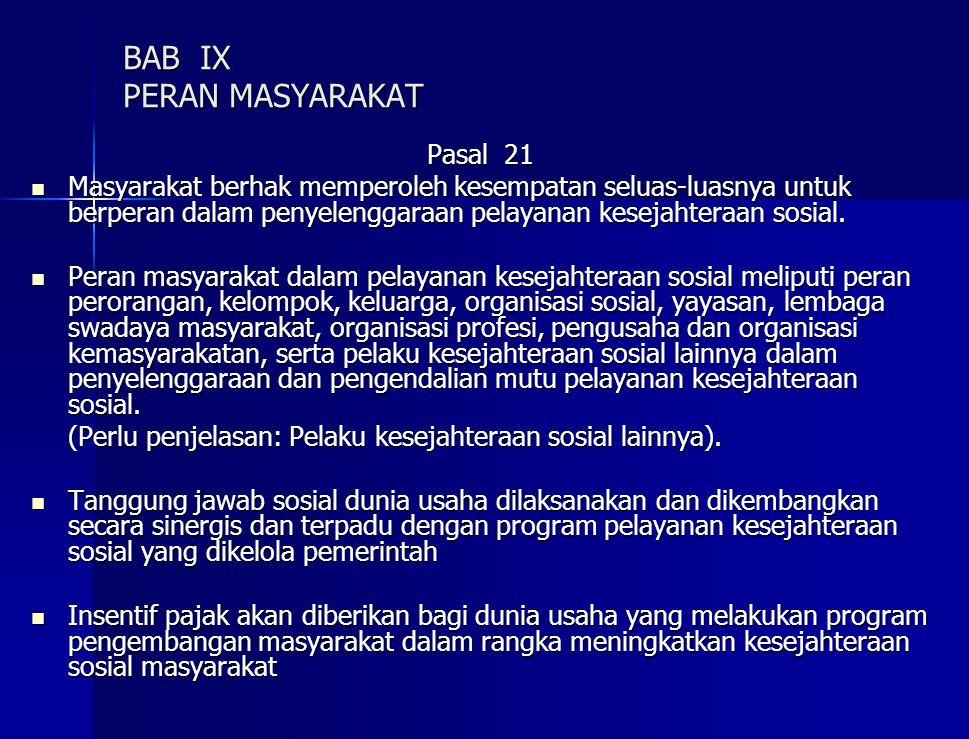 BAB IX PERAN MASYARAKAT
