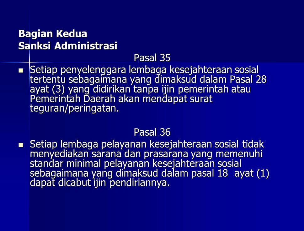 Bagian Kedua Sanksi Administrasi. Pasal 35.