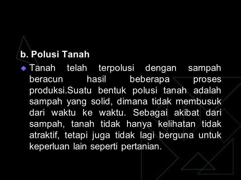 b. Polusi Tanah