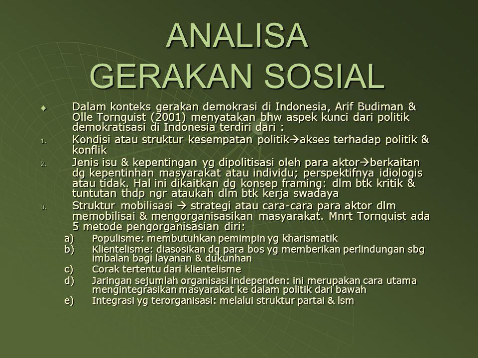 ANALISA GERAKAN SOSIAL