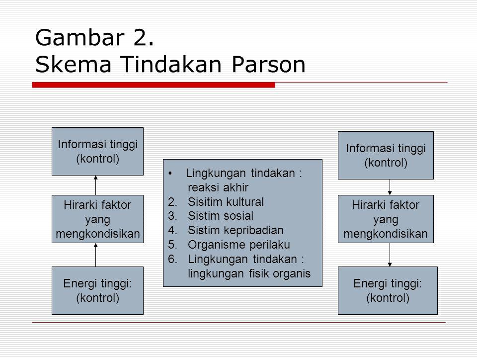 Gambar 2. Skema Tindakan Parson