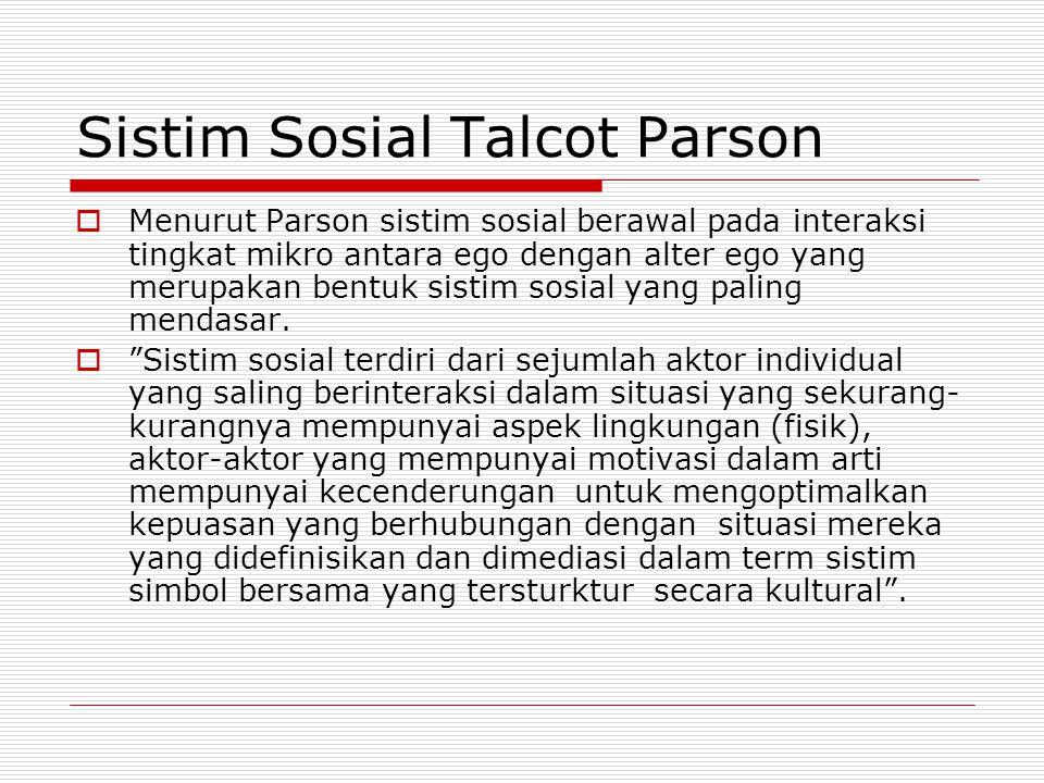 Sistim Sosial Talcot Parson