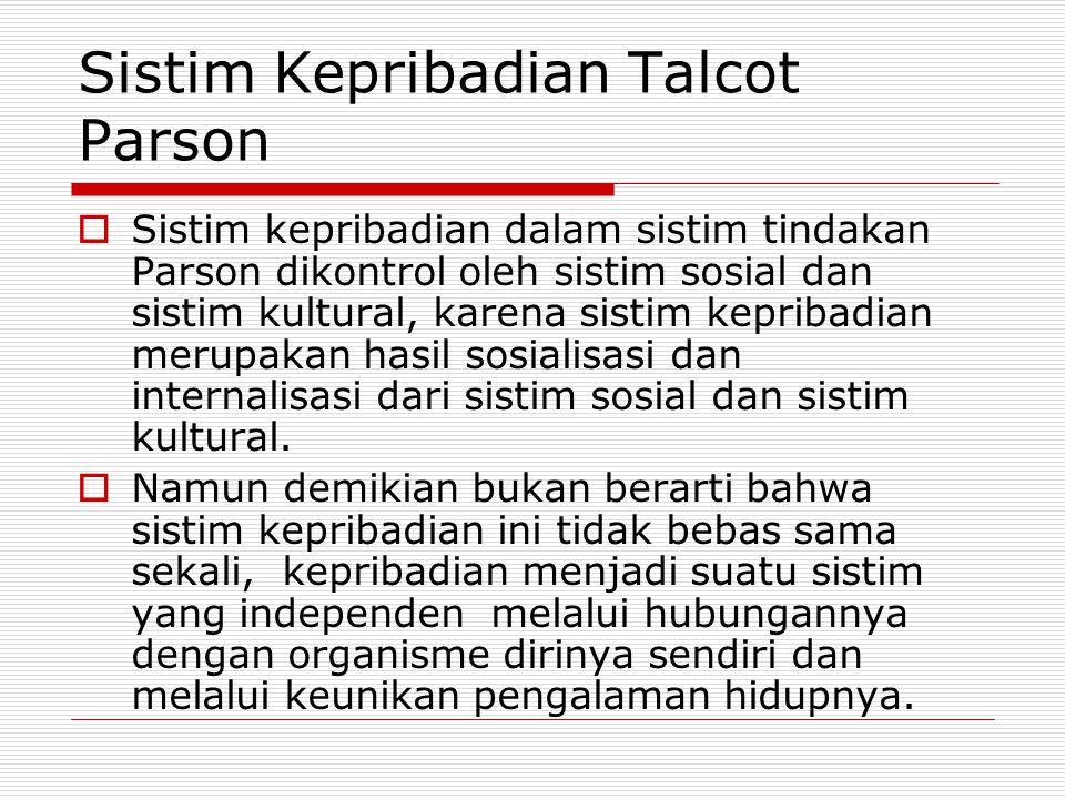 Sistim Kepribadian Talcot Parson