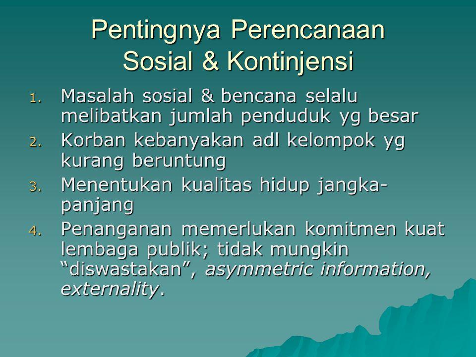 Pentingnya Perencanaan Sosial & Kontinjensi