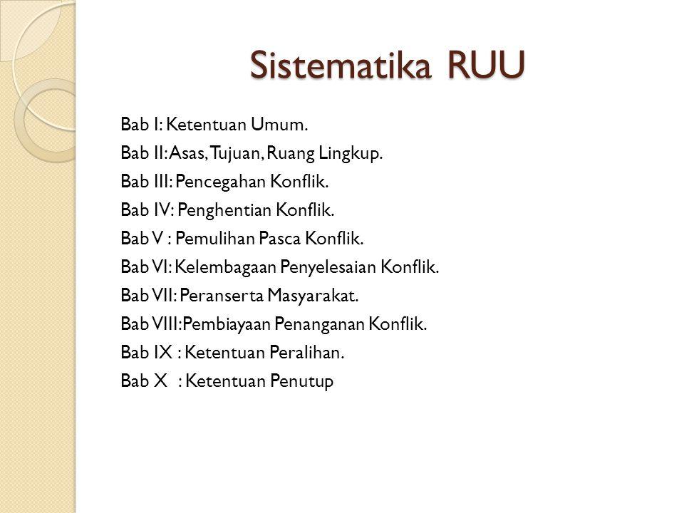 Sistematika RUU