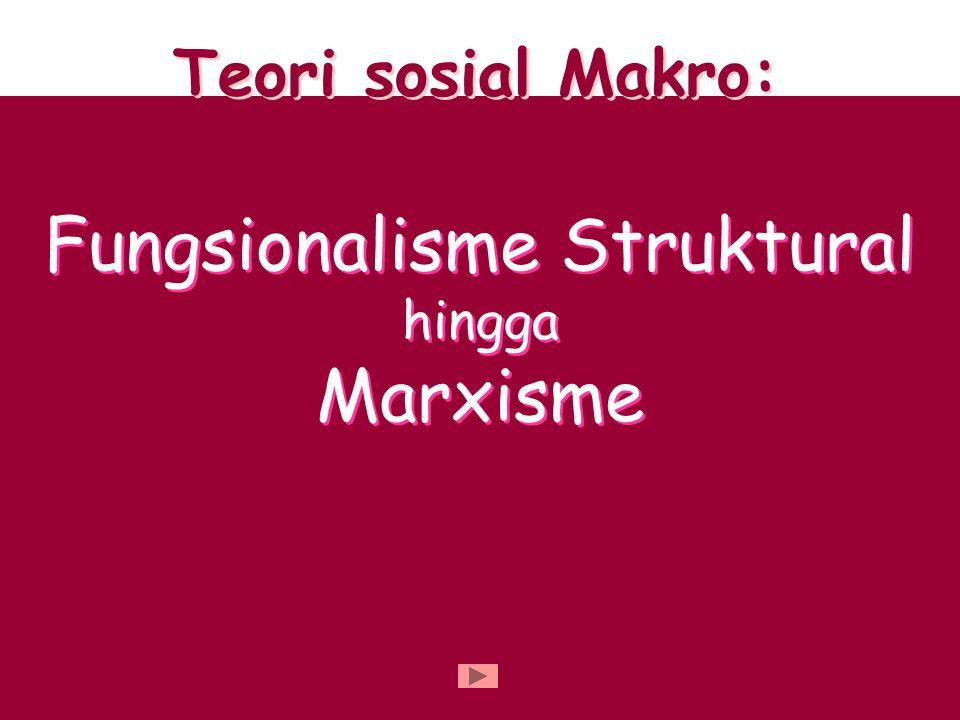 Fungsionalisme Struktural hingga Marxisme