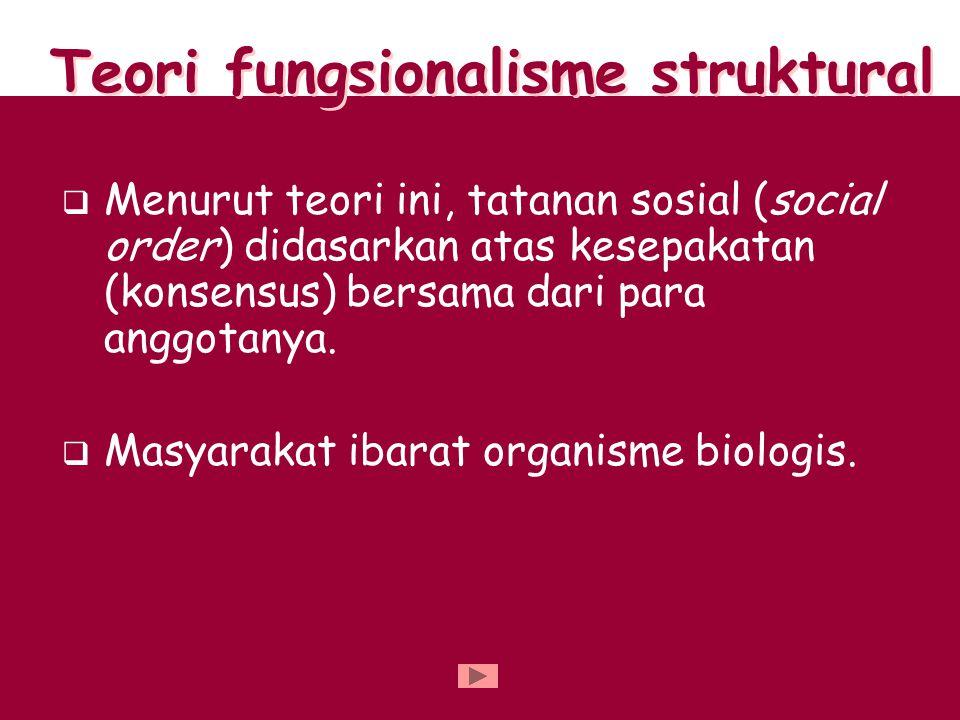 Teori fungsionalisme struktural