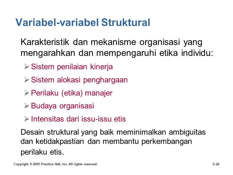 Variabel-variabel Struktural