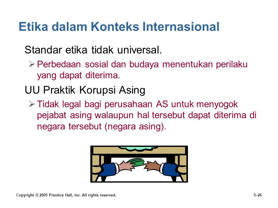 Etika dalam Konteks Internasional