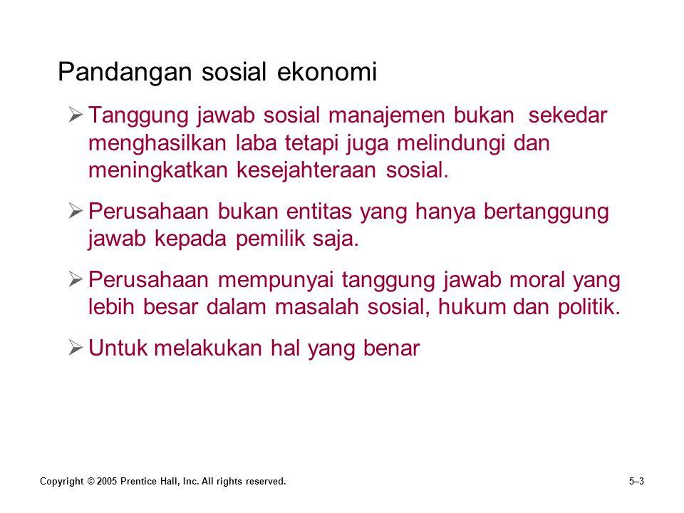 Pandangan sosial ekonomi