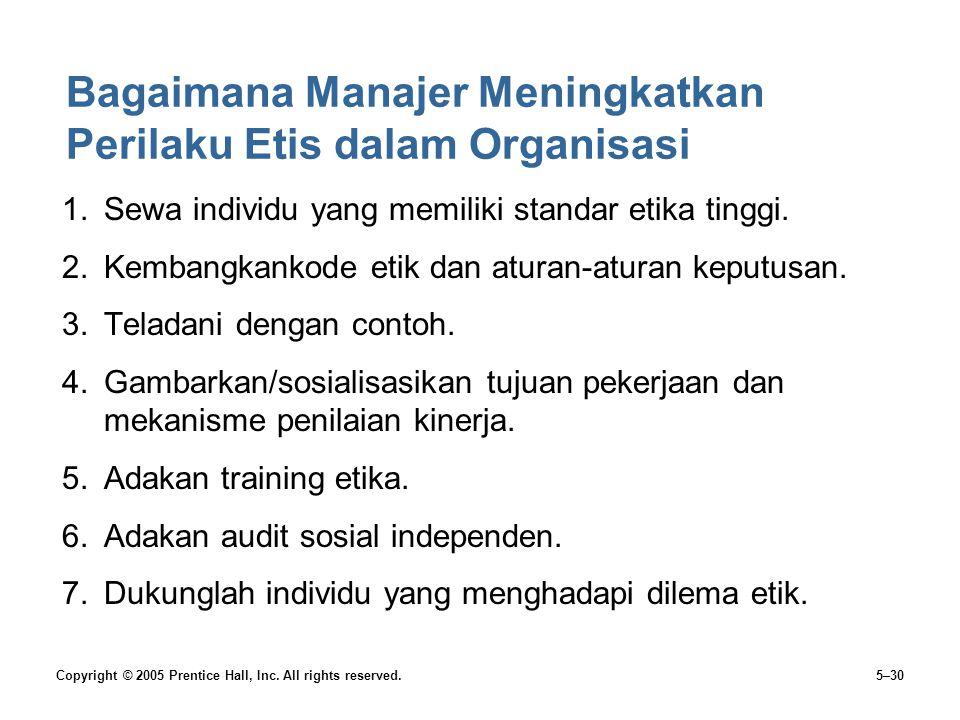 Bagaimana Manajer Meningkatkan Perilaku Etis dalam Organisasi