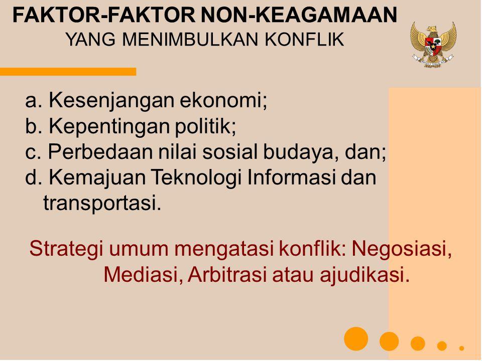 FAKTOR-FAKTOR NON-KEAGAMAAN