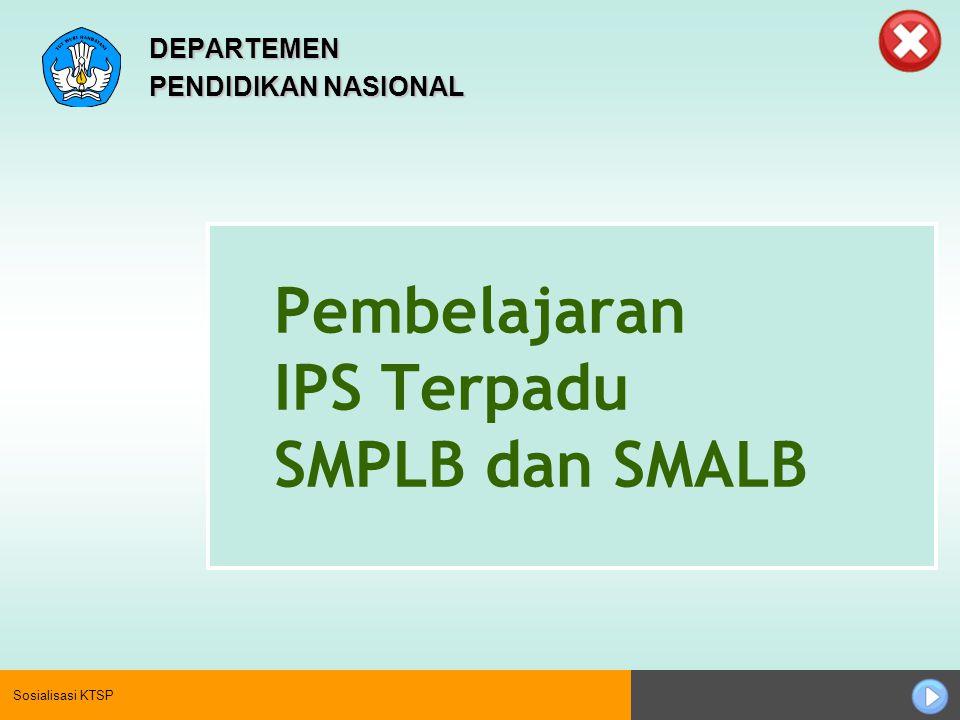 Pembelajaran IPS Terpadu SMPLB dan SMALB