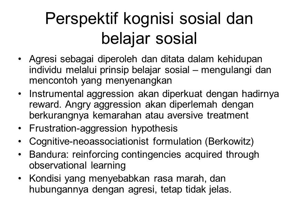Perspektif kognisi sosial dan belajar sosial