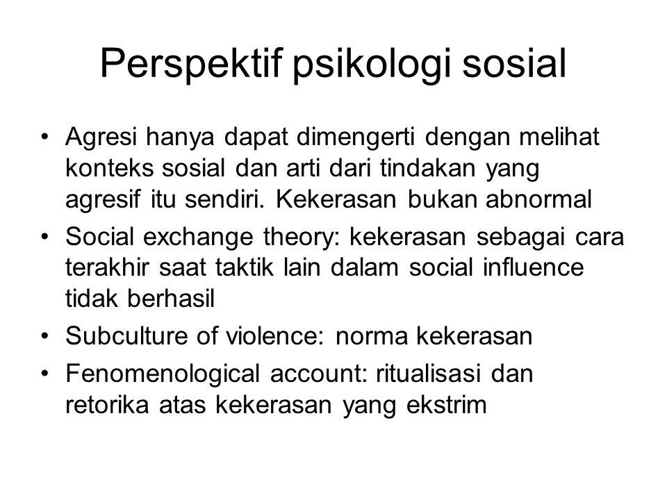 Perspektif psikologi sosial