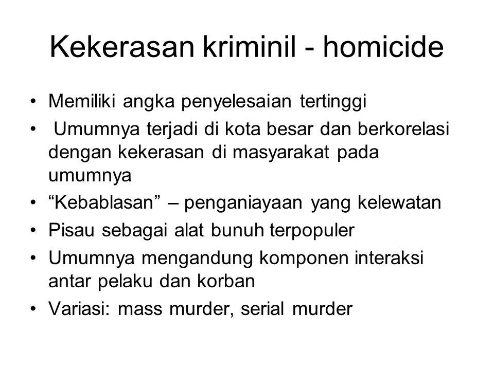 Kekerasan kriminil - homicide
