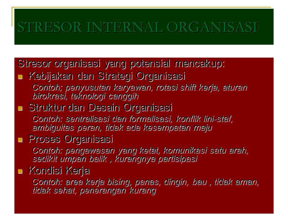 STRESOR INTERNAL ORGANISASI