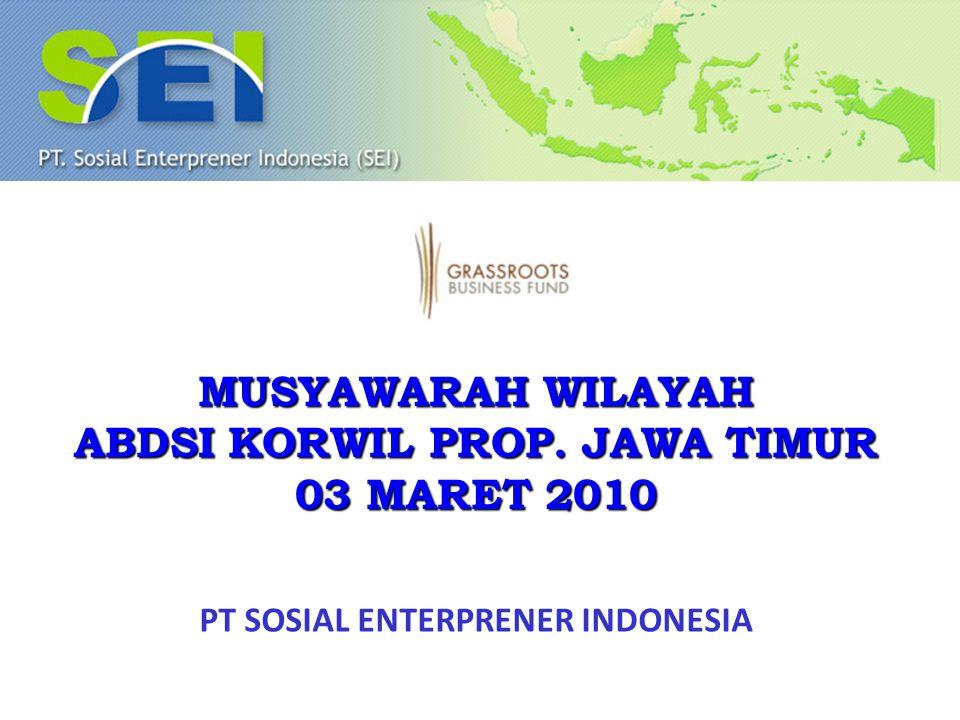 ABDSI KORWIL PROP. JAWA TIMUR PT SOSIAL ENTERPRENER INDONESIA