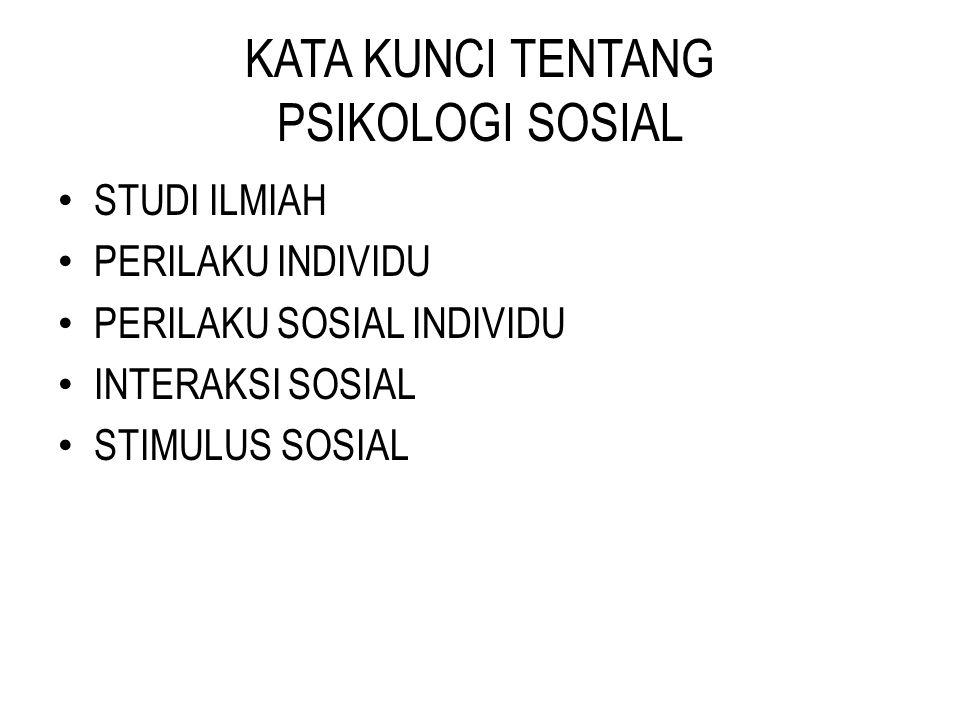 KATA KUNCI TENTANG PSIKOLOGI SOSIAL