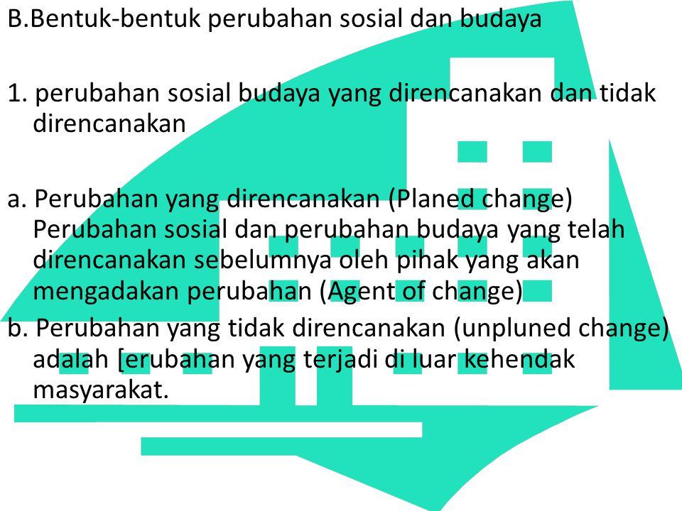 B. Bentuk-bentuk perubahan sosial dan budaya 1
