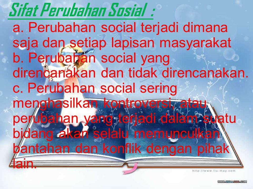 Sifat Perubahan Sosial : a