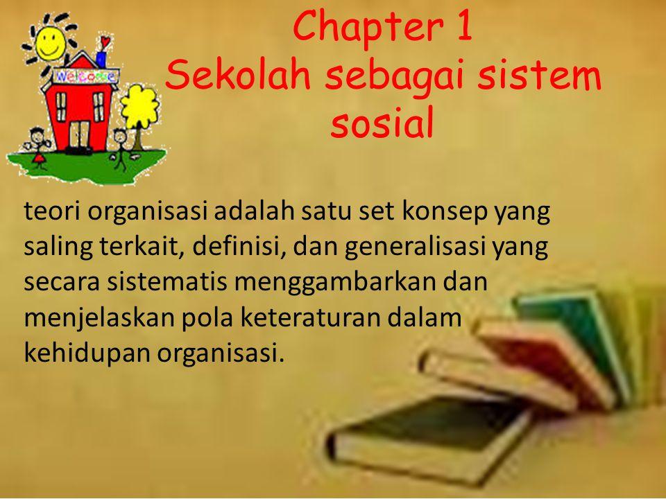 Chapter 1 Sekolah sebagai sistem sosial