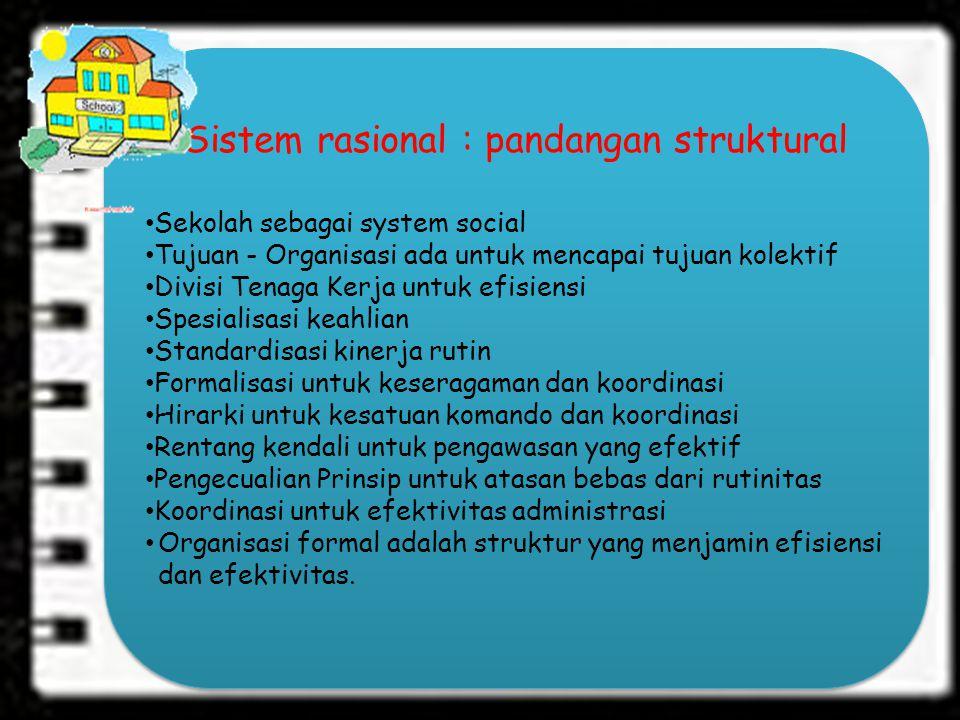 Sistem rasional : pandangan struktural
