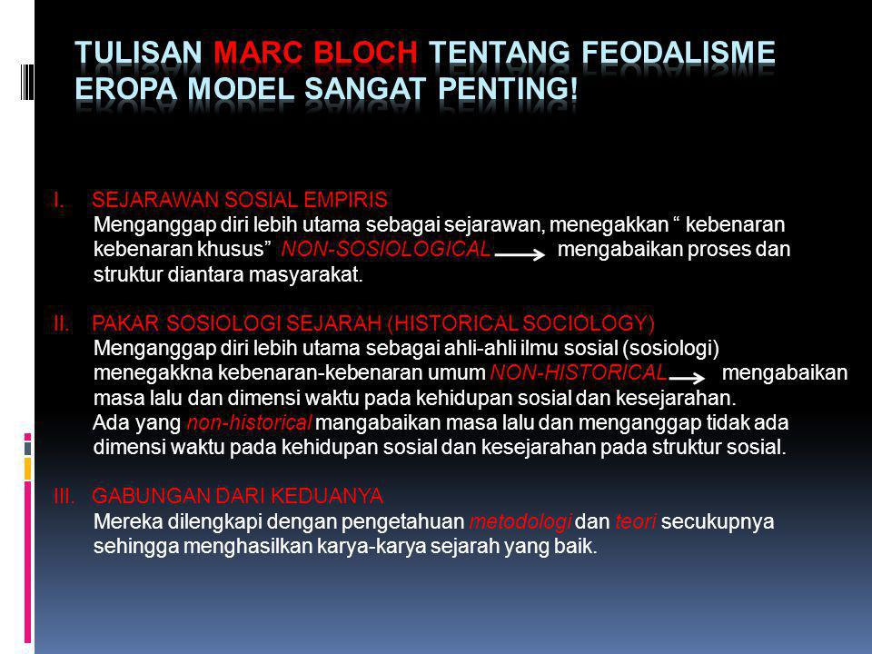 Tulisan Marc Bloch tentang Feodalisme Eropa model sangat penting!