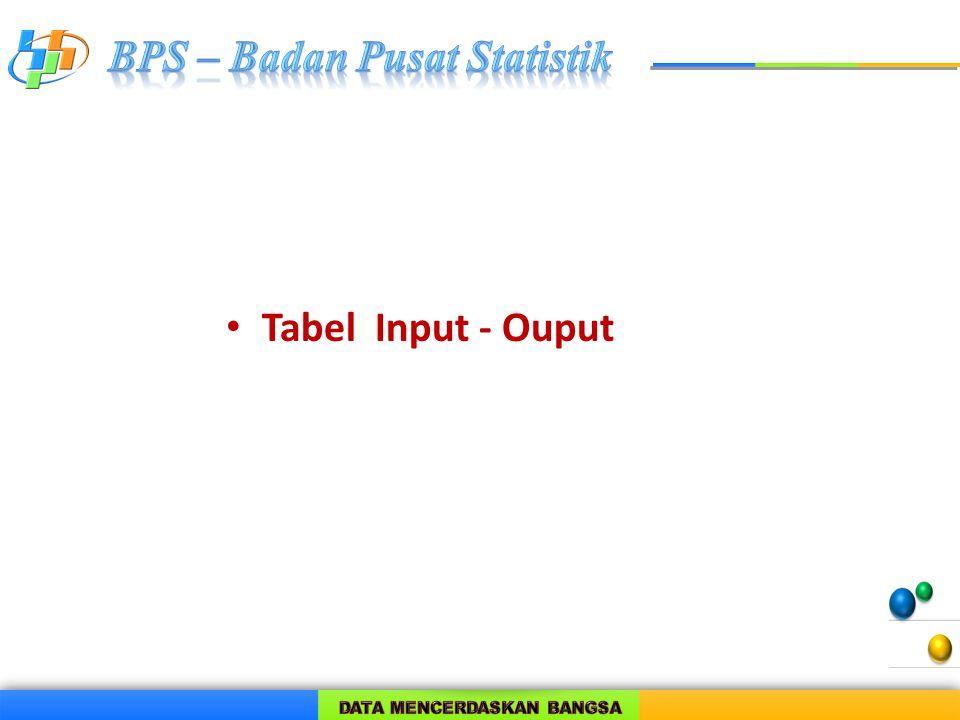 Tabel Input - Ouput