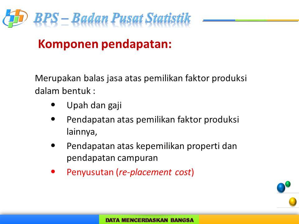 Merupakan balas jasa atas pemilikan faktor produksi dalam bentuk :