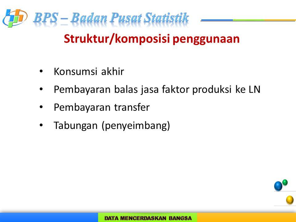 Struktur/komposisi penggunaan