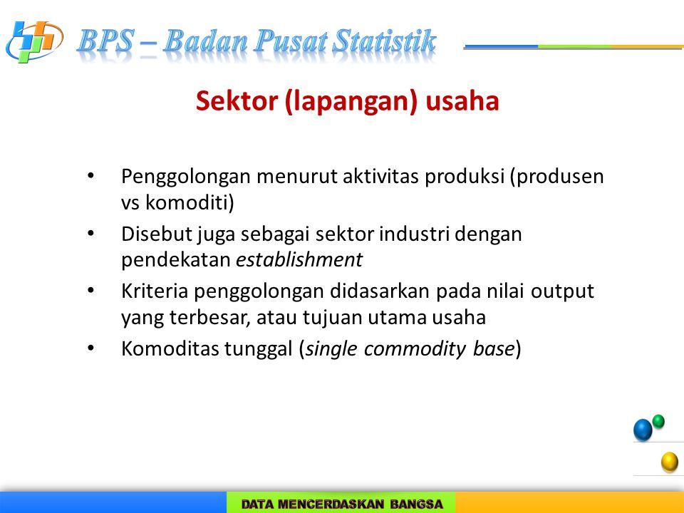 Sektor (lapangan) usaha