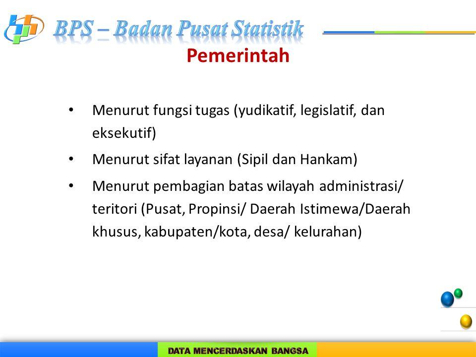 Pemerintah Menurut fungsi tugas (yudikatif, legislatif, dan eksekutif)