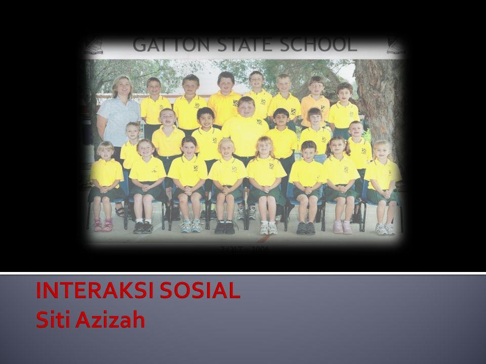 INTERAKSI SOSIAL Siti Azizah