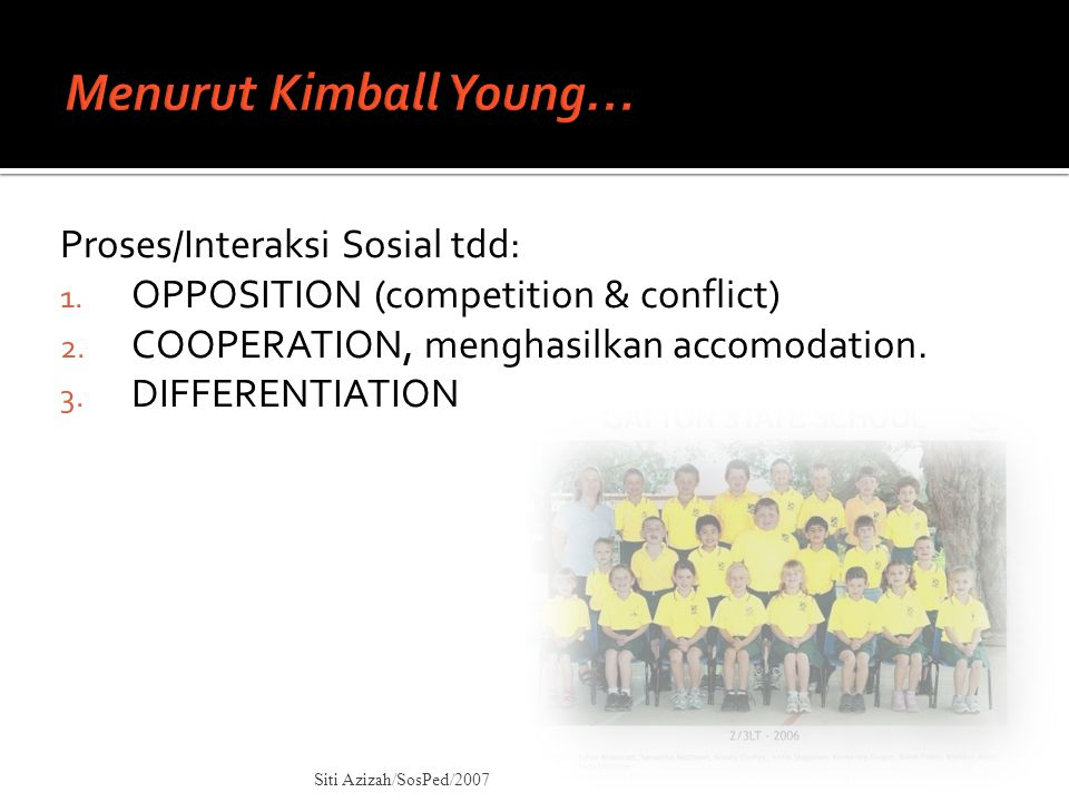 Menurut Kimball Young…