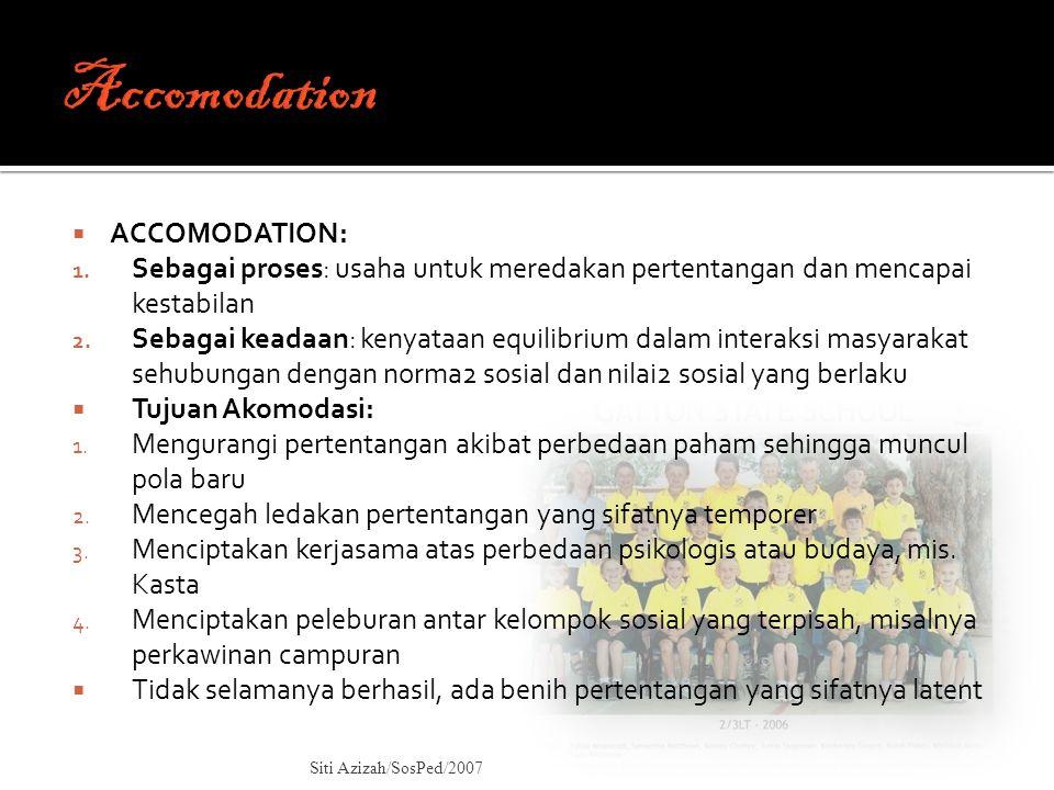 Accomodation ACCOMODATION: