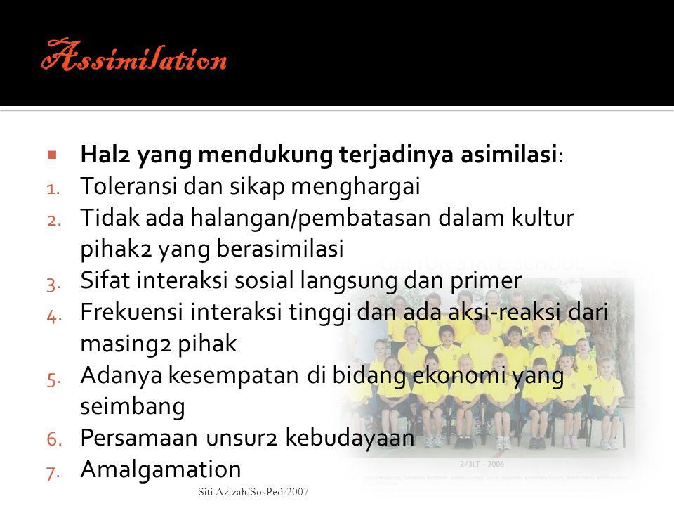 Assimilation Hal2 yang mendukung terjadinya asimilasi: