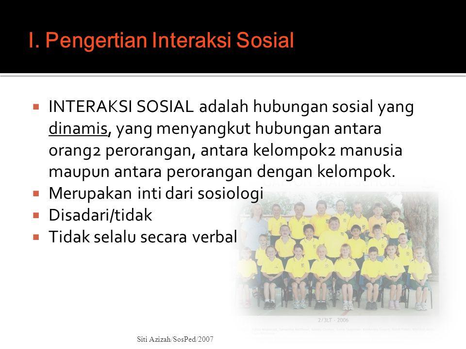 I. Pengertian Interaksi Sosial