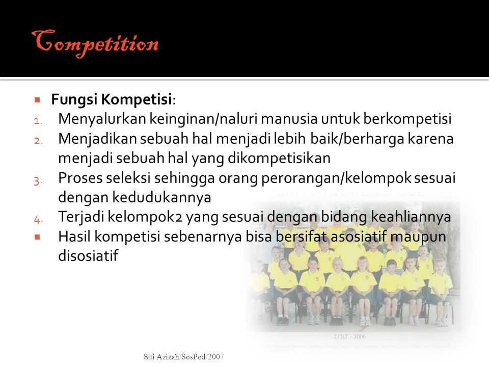 Competition Fungsi Kompetisi: