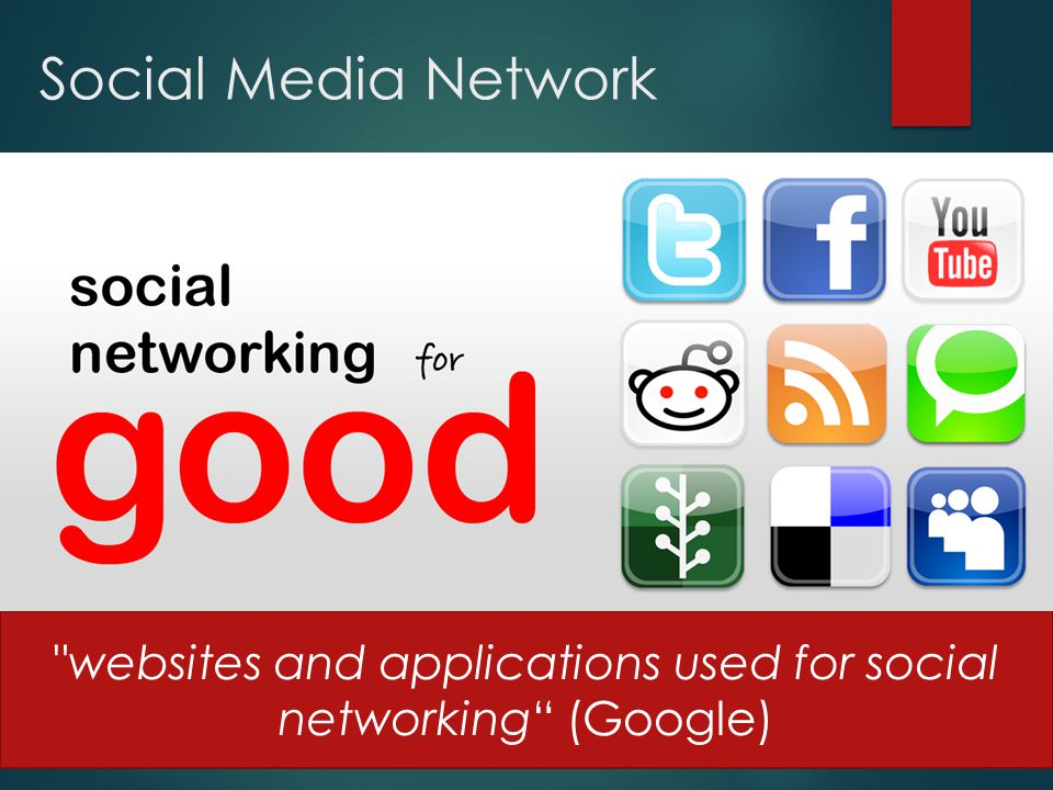 websites and applications used for social networking (Google)