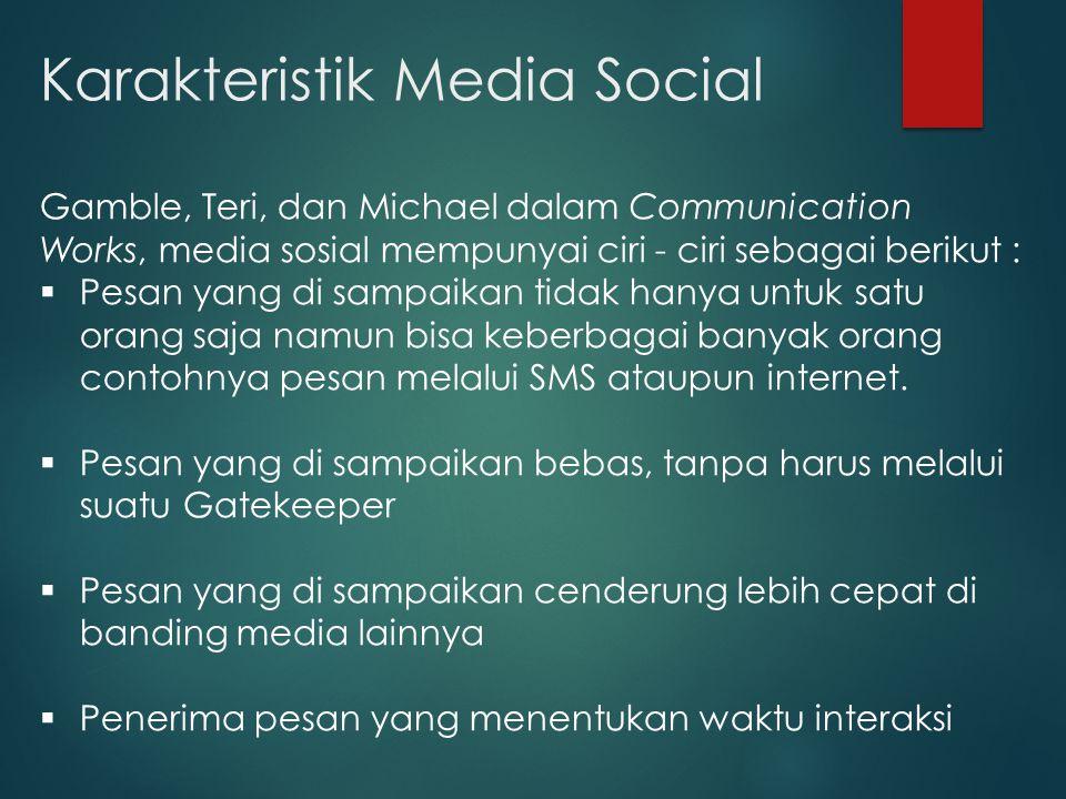 Karakteristik Media Social