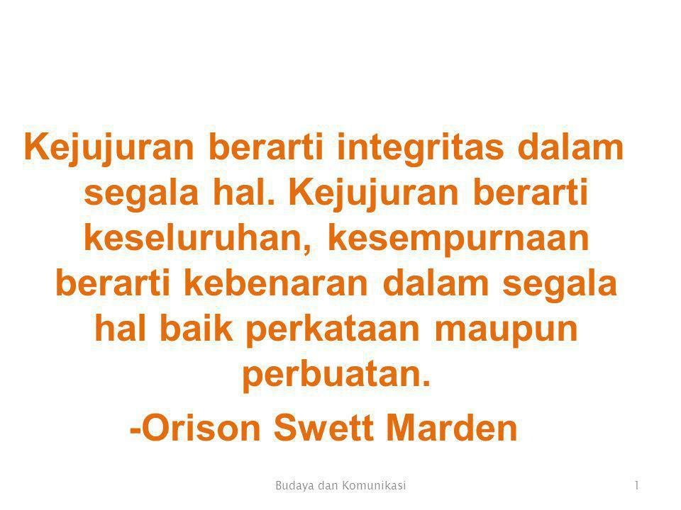 Kejujuran berarti integritas dalam segala hal