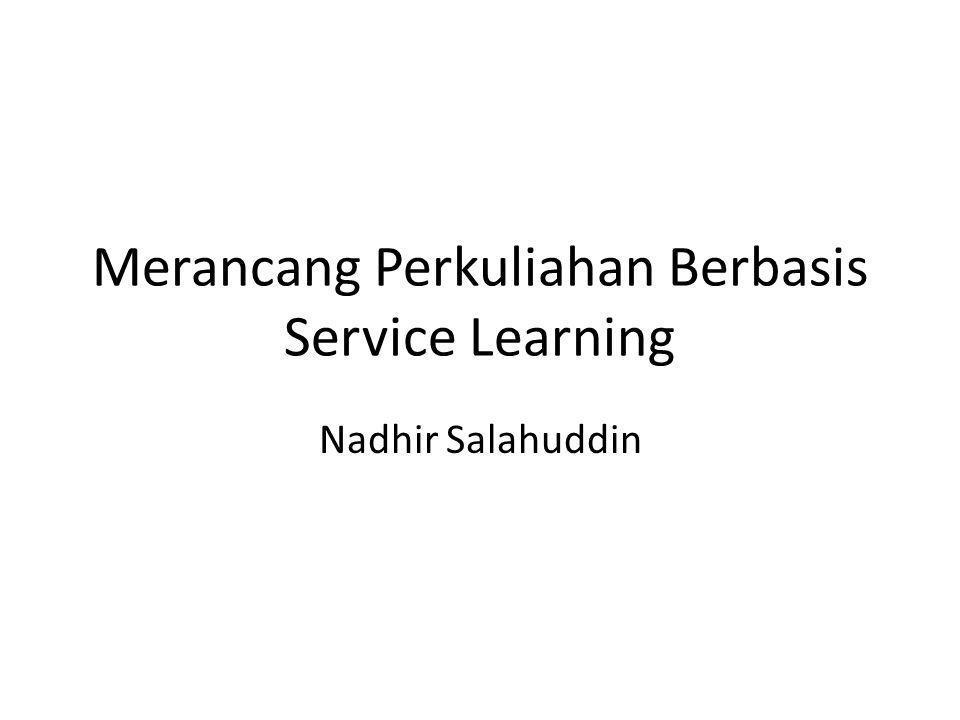 Merancang Perkuliahan Berbasis Service Learning
