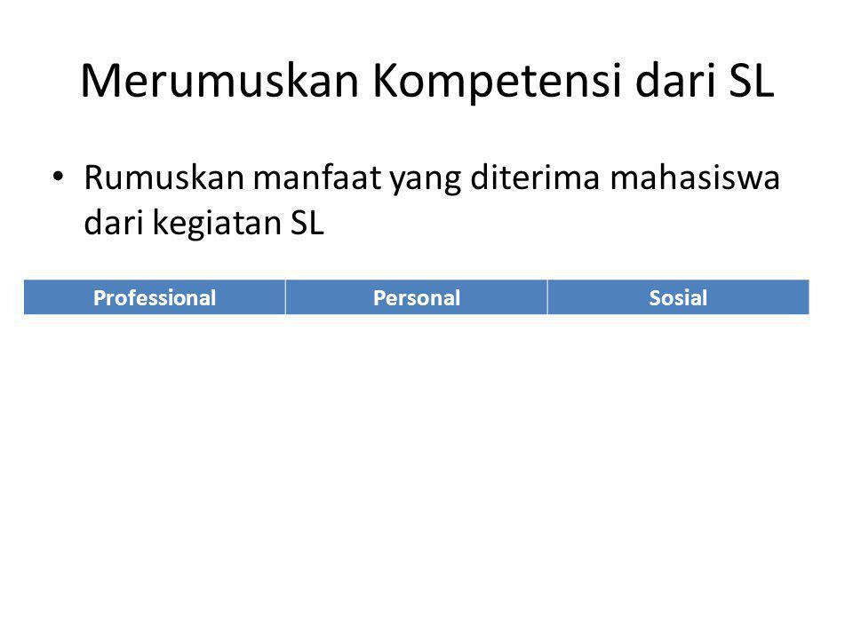 Merumuskan Kompetensi dari SL