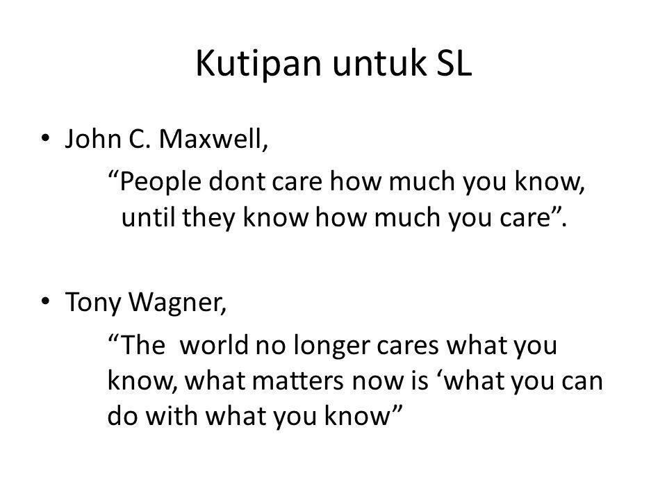 Kutipan untuk SL John C. Maxwell,